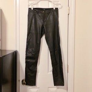 Black Faux leather skinny pants with soft lining